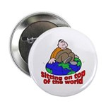 On Top of the World Cartoon Button
