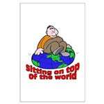 On Top of the World Cartoon Large Poster