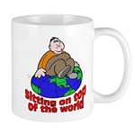 On Top of the World Cartoon Mug