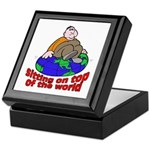 On Top of the World Cartoon Keepsake Box