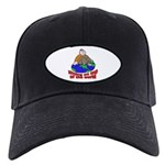 On Top of the World Cartoon Black Cap