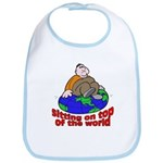 On Top of the World Cartoon Bib