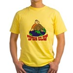 On Top of the World Cartoon Yellow T-Shirt
