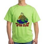 On Top of the World Cartoon Green T-Shirt