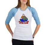 On Top of the World Cartoon (Front) Jr. Raglan