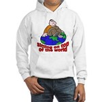 On Top of the World Cartoon (Front) Hooded Sweatsh