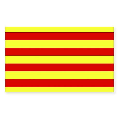 Catalunya Flag Rectangle Sticker