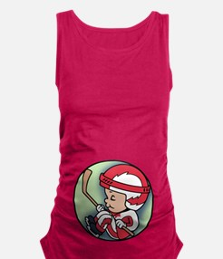 hockey-womb-T.png Maternity Tank Top