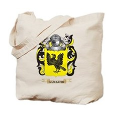 Luciano Coat of Arms - Family Crest Tote Bag