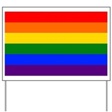 rainbow flag Yard Sign