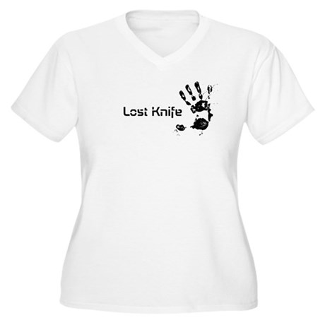 Lost Knife bloody hand print Plus Size T-Shirt