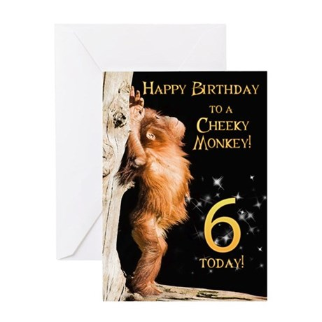 6th birthday card Greeting Card