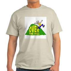 Over the Hill Cartoon Ash Grey T-Shirt