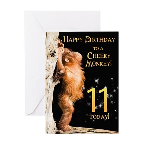 11th birthday card Greeting Card