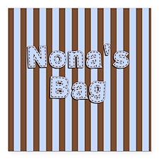 """Nonas Bag Square Car Magnet 3"""" x 3"""""""