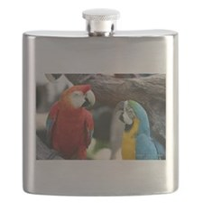Two Parrots Flask