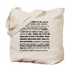 What nursing means to me Tote Bag