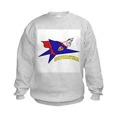 Superstar Hero Cartoon (Front) Sweatshirt
