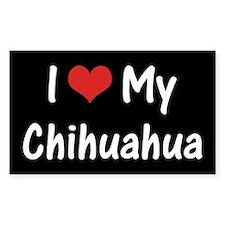 I Heart My Chihuahua Decal