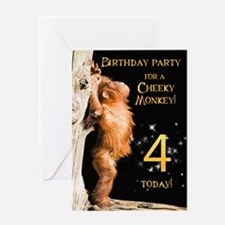 4th Birthday party invitation Greeting Card