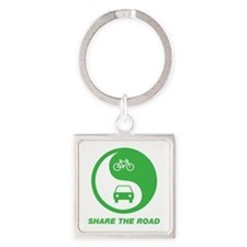SHARE THE ROAD Square Keychain