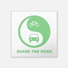 "SHARE THE ROAD Square Sticker 3"" x 3"""