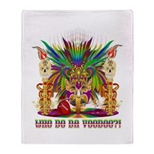 Mardi Gras Witch Doctor 2 Throw Blanket
