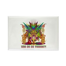 Mardi Gras Witch Doctor 2 Rectangle Magnet (100 pa