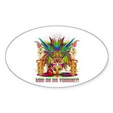 Mardi Gras Witch Doctor 2 Decal