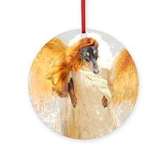 Lily Orange Angel Dachshund Ornament (Round)