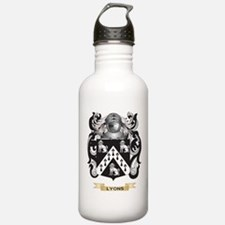 Lyons Coat of Arms - Family Crest Water Bottle