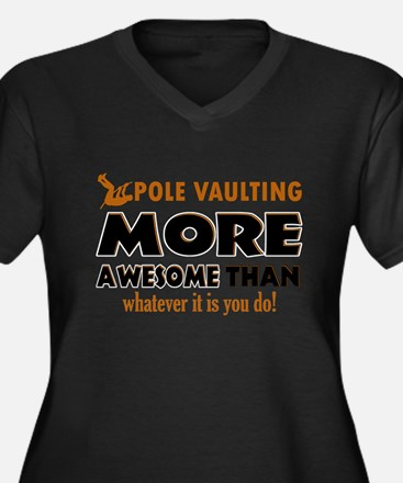 Awesome Polevault designs Women's Plus Size V-Neck