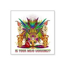 "Mardi Gras Witch Doctor 4 Square Sticker 3"" x 3"""