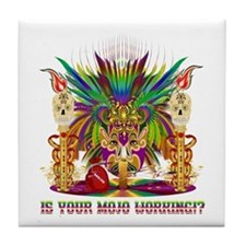 Mardi Gras Witch Doctor 4 Tile Coaster