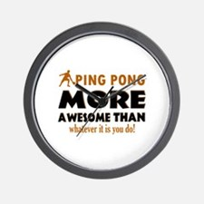 Awesome Ping pong designs Wall Clock