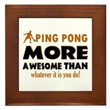 Awesome Ping pong designs Framed Tile