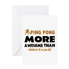 Awesome Ping pong designs Greeting Card