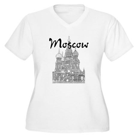 Moscow Women's Plus Size V-Neck T-Shirt
