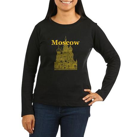 Moscow Women's Long Sleeve Dark T-Shirt
