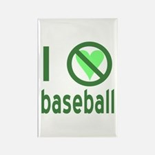 I Hate Baseball Rectangle Magnet