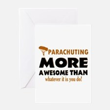 Awesome Parachute designs Greeting Card
