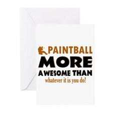 Awesome Paintball designs Greeting Cards (Pk of 10