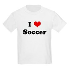 I Love Soccer Kids T-Shirt