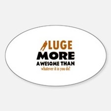 Awesome luge designs Decal