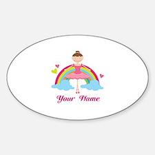 Personalized Ballerina Dancer Sticker (Oval)