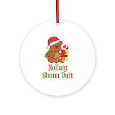Nollaig Shona Duit Ornament (Round)
