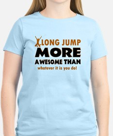 Awesome long jump designs T-Shirt