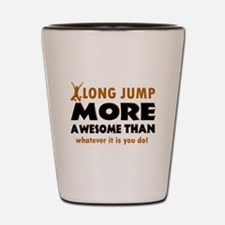 Awesome long jump designs Shot Glass