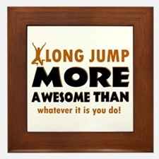 Awesome long jump designs Framed Tile
