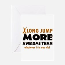 Awesome long jump designs Greeting Card